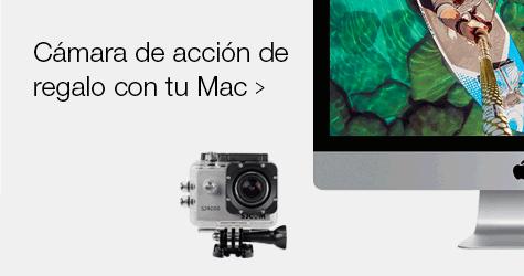 De regalo una cámara de acción con tu mac