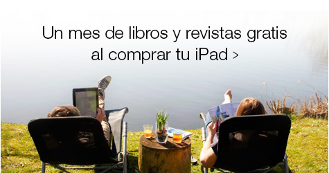 Un mes de libros y revistas gratis al comprar tu iPad